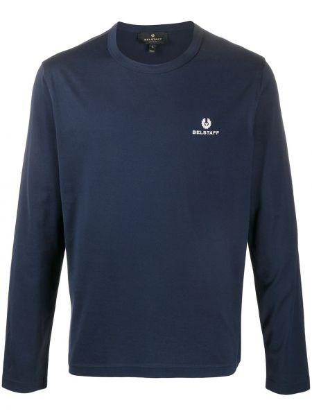 Sweter z haftem - niebieski Belstaff