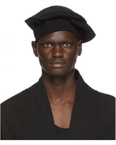 Czarny jedwab beret Julius