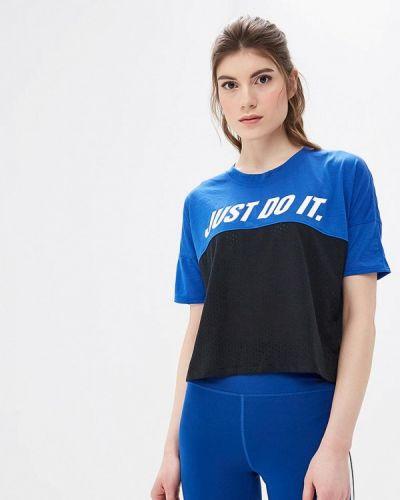Синее поло спортивное Nike