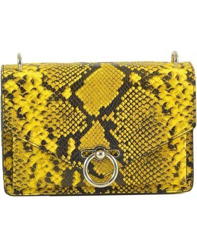 Żółta torebka z printem Rebecca Minkoff
