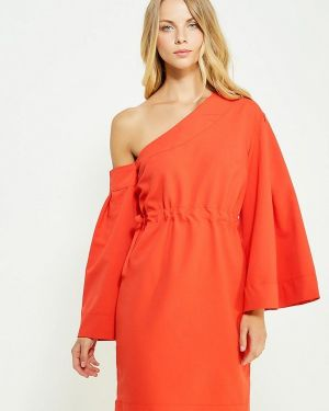 Вечернее платье коралловый красный Tutto Bene