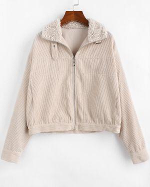 Куртка вельветовая с карманами Zaful