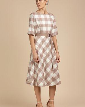 Летнее платье классическое с поясом Vassa&co