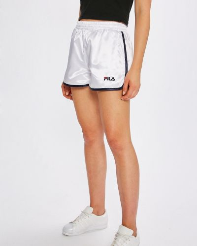Спортивные шорты с завышенной талией белые Fila