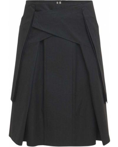 С кулиской черная юбка с карманами Rick Owens