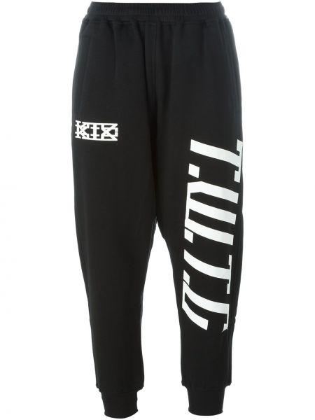 Хлопковые спортивные брюки - черные Ktz