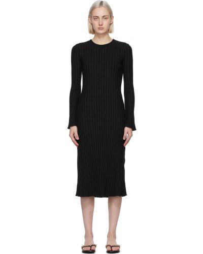 Sukienka długa z długimi rękawami - czarna Simon Miller