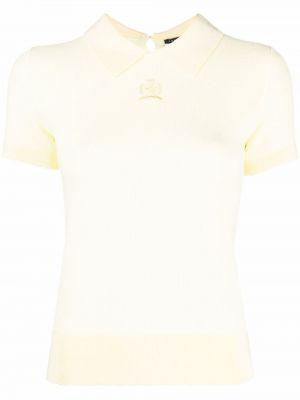 Хлопковый поло - желтый Hilfiger Collection
