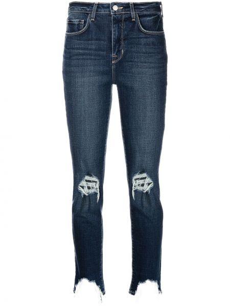 Облегающие зауженные джинсы - синие L'agence