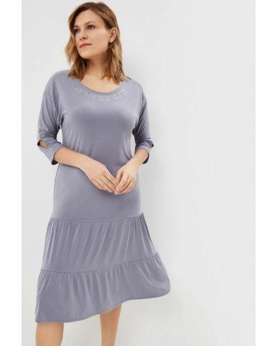 Повседневное платье осеннее серое Sparada