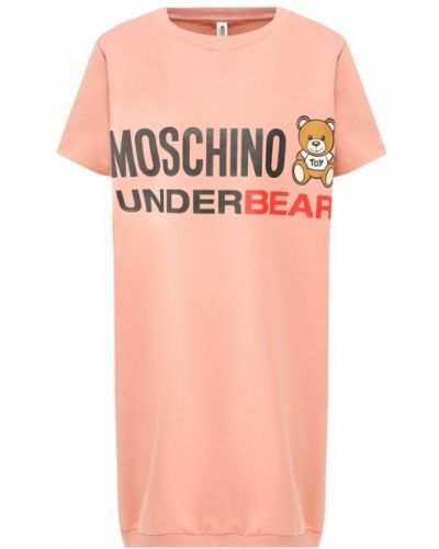 Рубашка хлопковая с логотипом Moschino