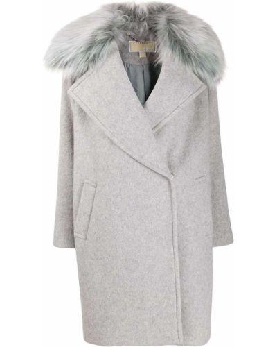 Коралловое шерстяное длинное пальто Michael Michael Kors