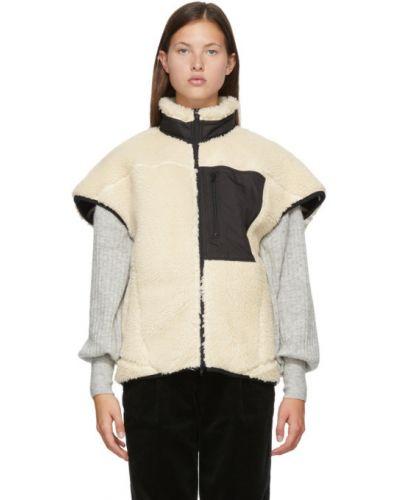Белая жилетка с подкладкой с воротником без рукавов 3.1 Phillip Lim