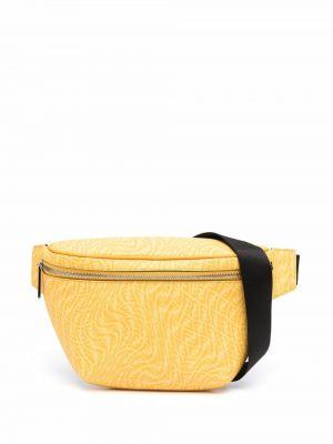 Pasek skórzany - żółty Fendi