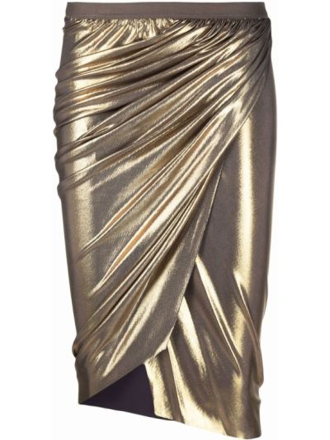 Юбка карандаш - золотая Rick Owens Lilies