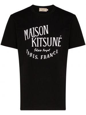 Koszula krótkie z krótkim rękawem z nadrukiem z logo Maison Kitsune