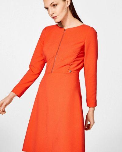 Повседневное платье весеннее красный Pedro Del Hierro