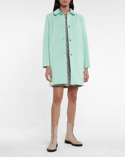 Ватное зеленое шерстяное пальто A.p.c.