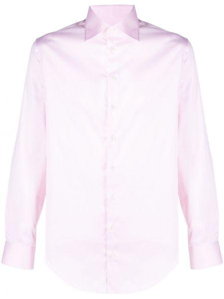 Розовая с рукавами рубашка с воротником Giorgio Armani