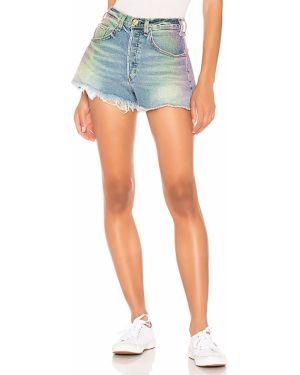Niebieskie jeansy z wysokim stanem bawełniane Mcguire
