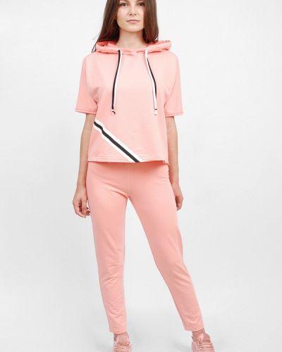 Костюмный розовый спортивный костюм Sab