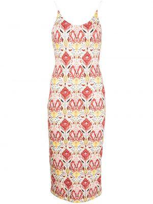 Приталенное платье миди с V-образным вырезом из вискозы Alice+olivia