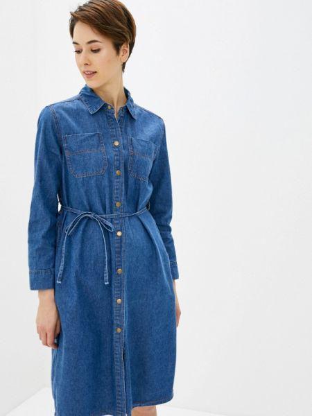 Джинсовое платье синее весеннее Miss Gabby