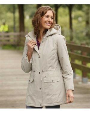 Куртка с капюшоном на молнии мятная на синтепоне для полных Atlas For Men