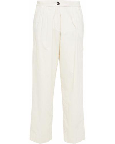 Прямые бежевые укороченные брюки вельветовые Ps Paul Smith