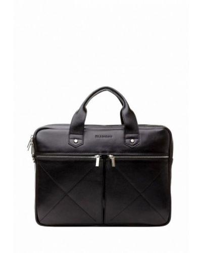 Черная кожаная сумка Blamont