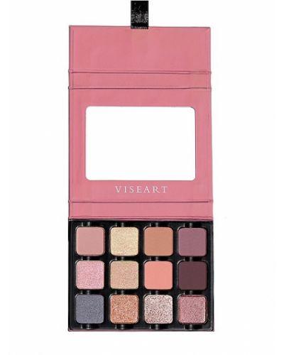 Розовая палитра для макияжа матовая металлическая Viseart