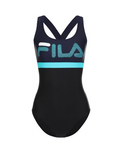 Черный спортивный купальник Fila