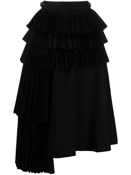 С завышенной талией асимметричная юбка с оборками с поясом Comme Des Garçons Noir Kei Ninomiya