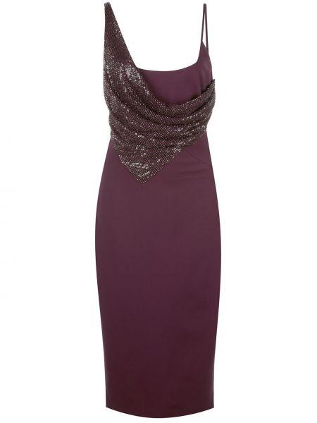 Платье миди с открытой спиной с пайетками Cushnie