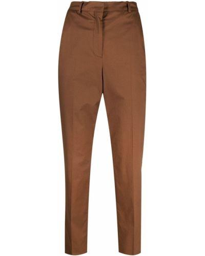 Брючные хлопковые коричневые брюки Incotex