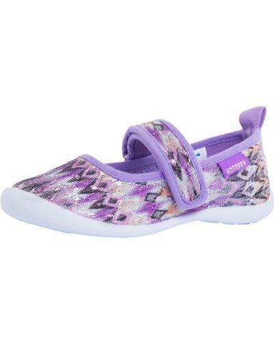 Текстильные фиолетовые брендовые туфли котофей