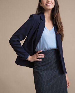 Юбка макси с карманами - синяя Emka