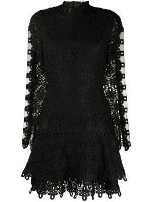 Платье мини черное с рукавами Jonathan Simkhai
