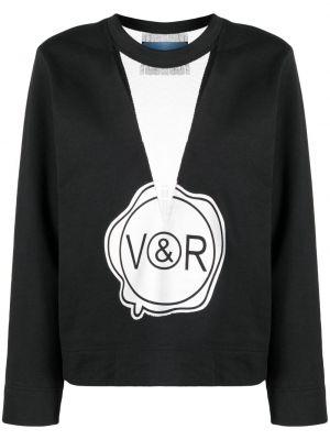 Черная кофта с вырезом Viktor & Rolf