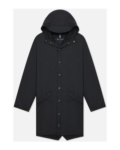 Черная куртка из полиэстера Rains