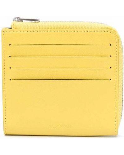 Portfel skórzany - żółty Jil Sander