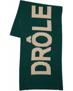 Zielony szalik wełniany Drole De Monsieur
