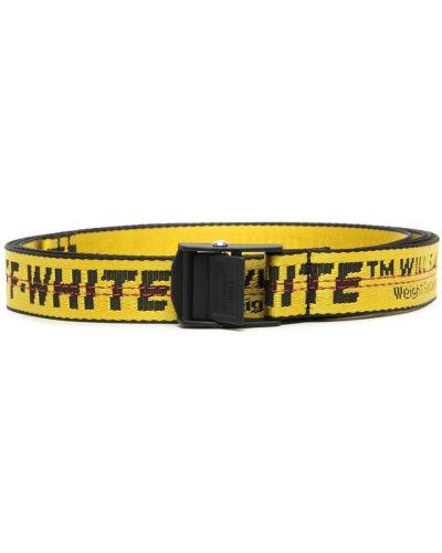 Żółty pasek z paskiem Off-white