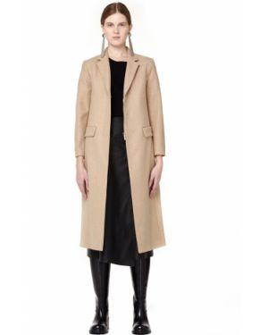 Укороченное пальто бежевое на кнопках The Row