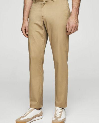 Бежевые зауженные брюки Mango Man