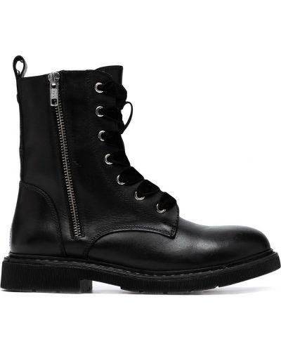 Кожаные ботинки на каблуке на шнуровке Carvela