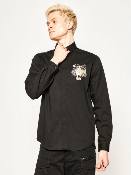 Czarna koszula slim Just Cavalli