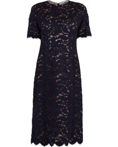 Платье из ангоры с цветочным принтом Agnona
