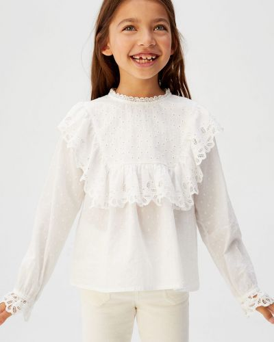 Блуза на пуговицах Mango Kids
