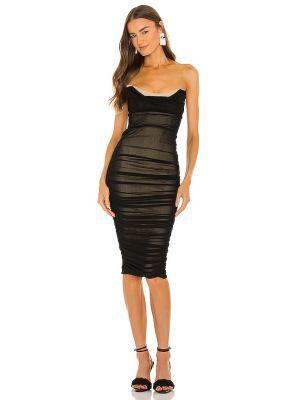 Черное платье сетчатое Michael Costello